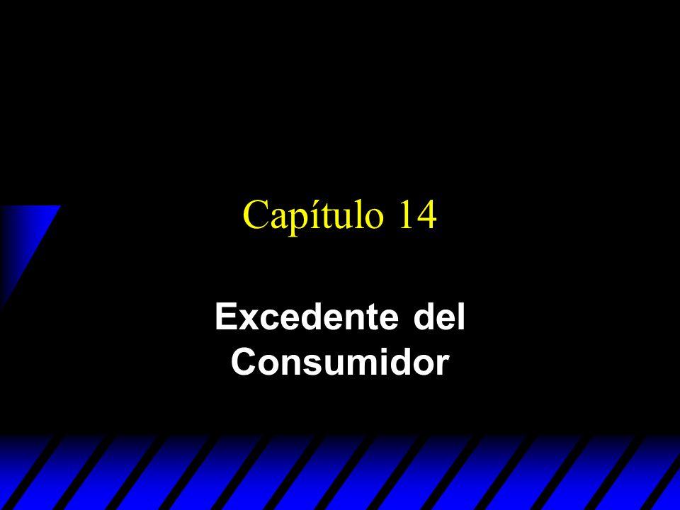Capítulo 14 Excedente del Consumidor