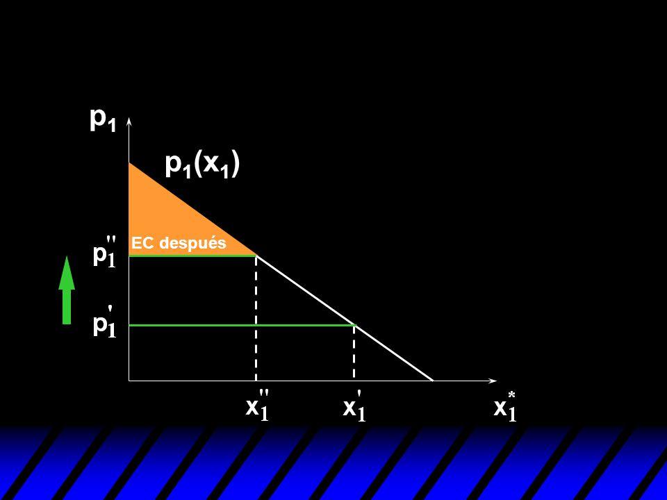 p1p1 EC después p 1 (x 1 )