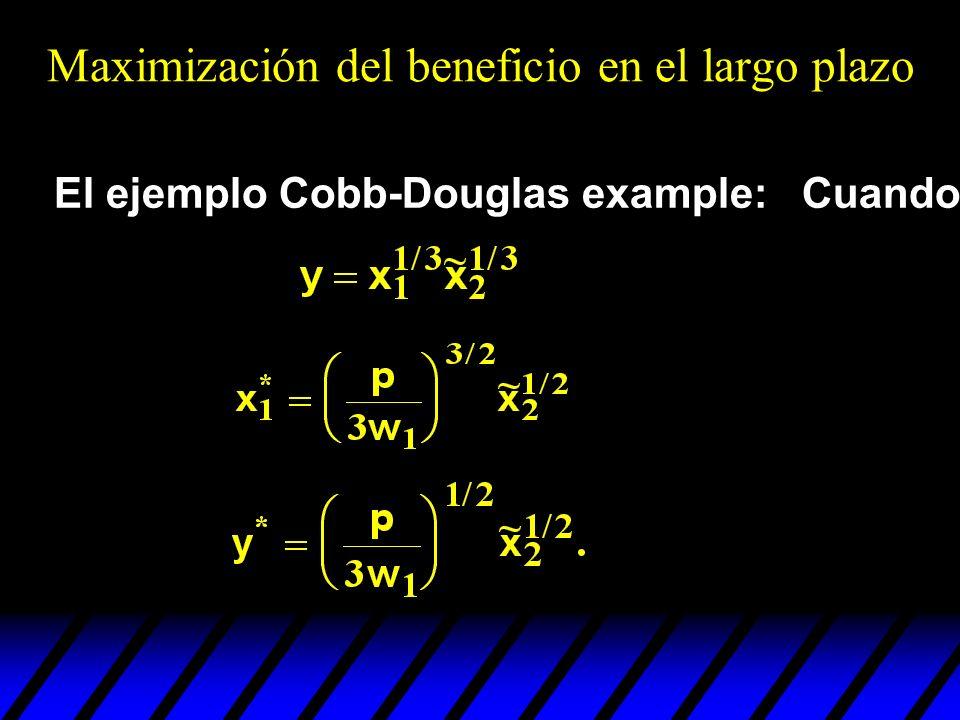 El ejemplo Cobb-Douglas example: Cuando Maximización del beneficio en el largo plazo