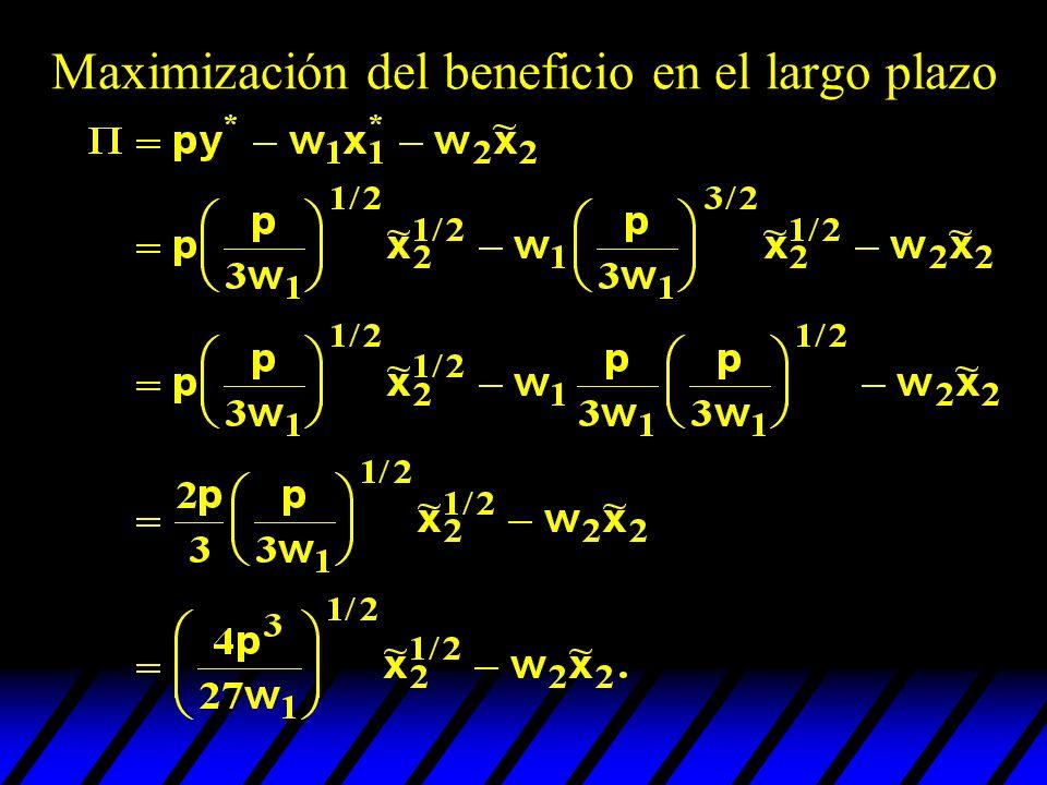 ¿cuàl es el nivel de empleo del factor 2 que maximiza el beneficio.