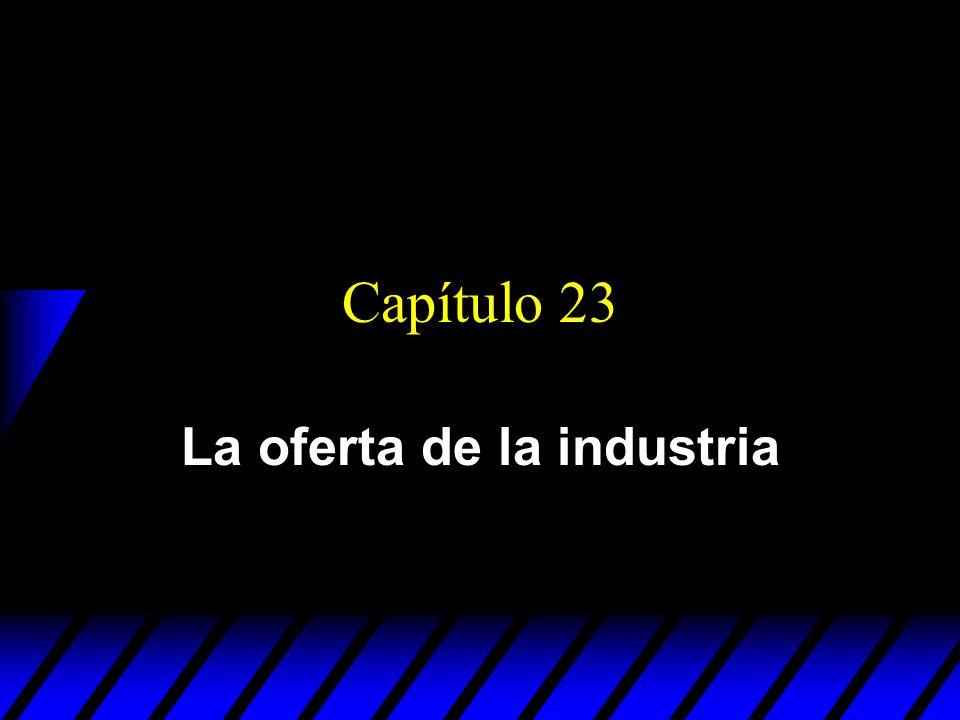 Capítulo 23 La oferta de la industria
