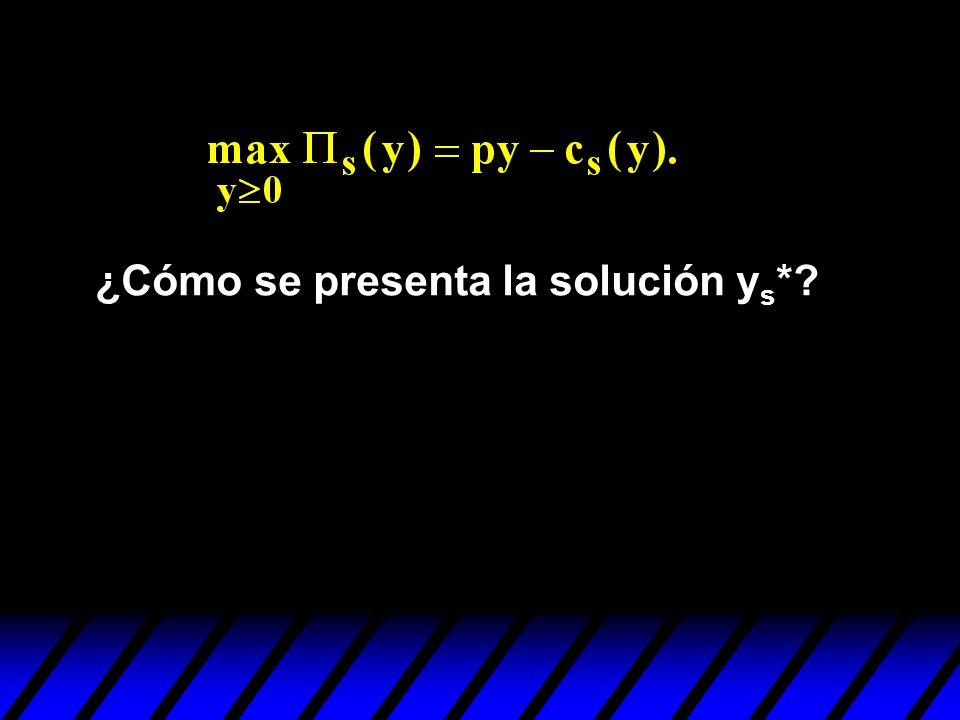 ¿Cómo se presenta la solución y s *?