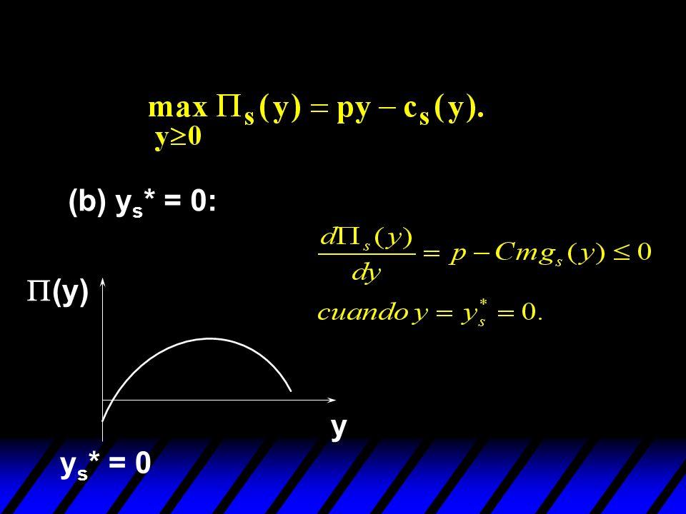 (b) y s * = 0: (y) y y s * = 0
