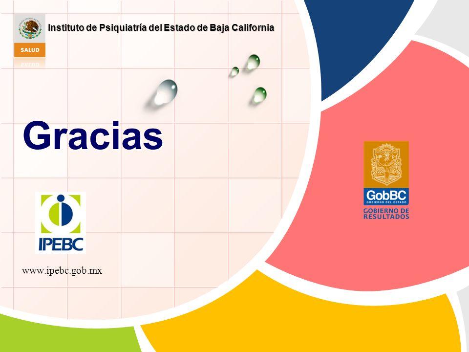 Gracias www.ipebc.gob.mx Instituto de Psiquiatría del Estado de Baja California