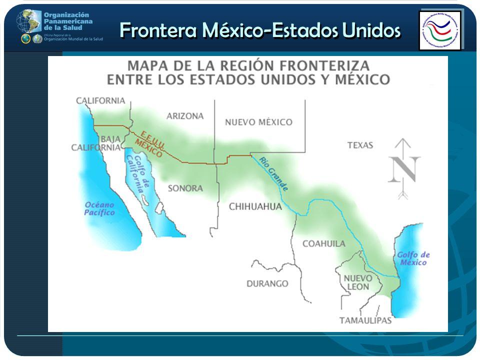 La frontera es un punto de unión entre dos naciones Esta región abarca 100 kilómetros al sur y norte del límite fronterizo.