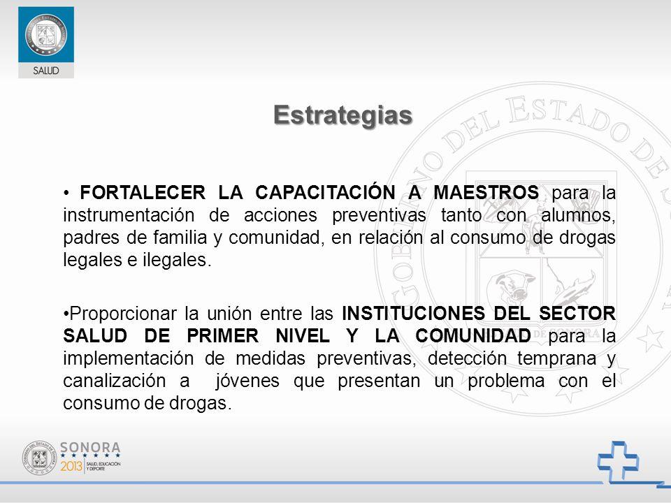 FORTALECER LA CAPACITACIÓN A MAESTROS para la instrumentación de acciones preventivas tanto con alumnos, padres de familia y comunidad, en relación al
