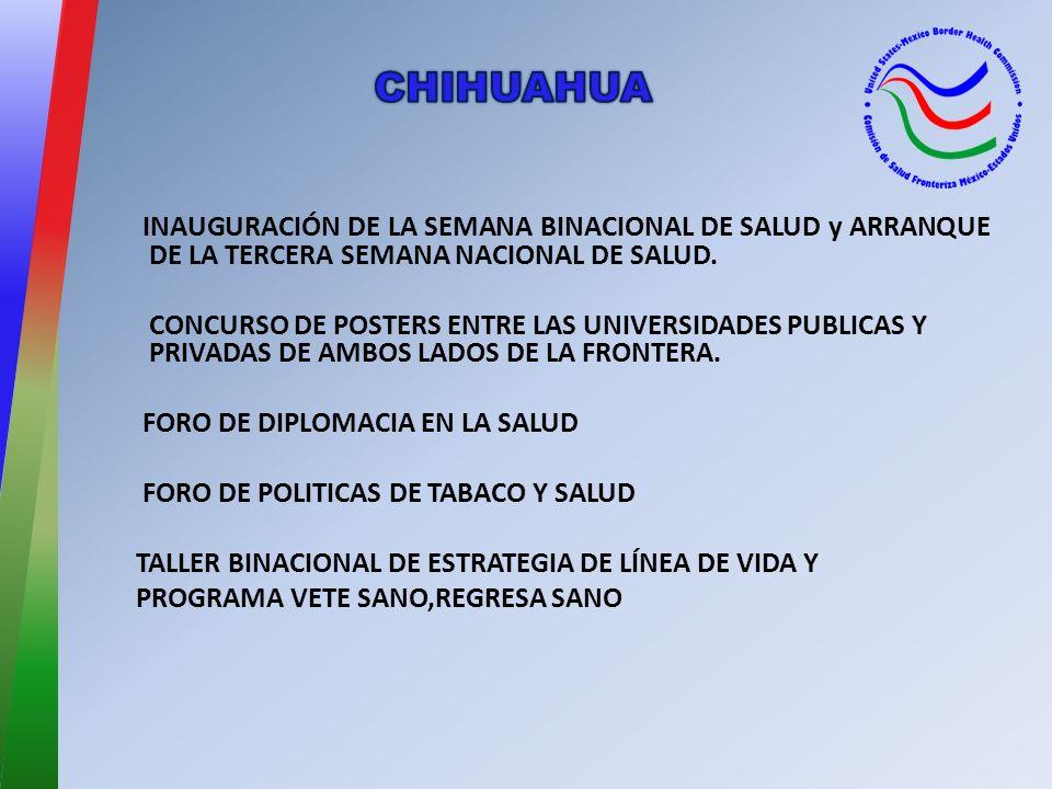 INAUGURACIÓN DE LA SEMANA BINACIONAL DE SALUD y ARRANQUE DE LA TERCERA SEMANA NACIONAL DE SALUD.