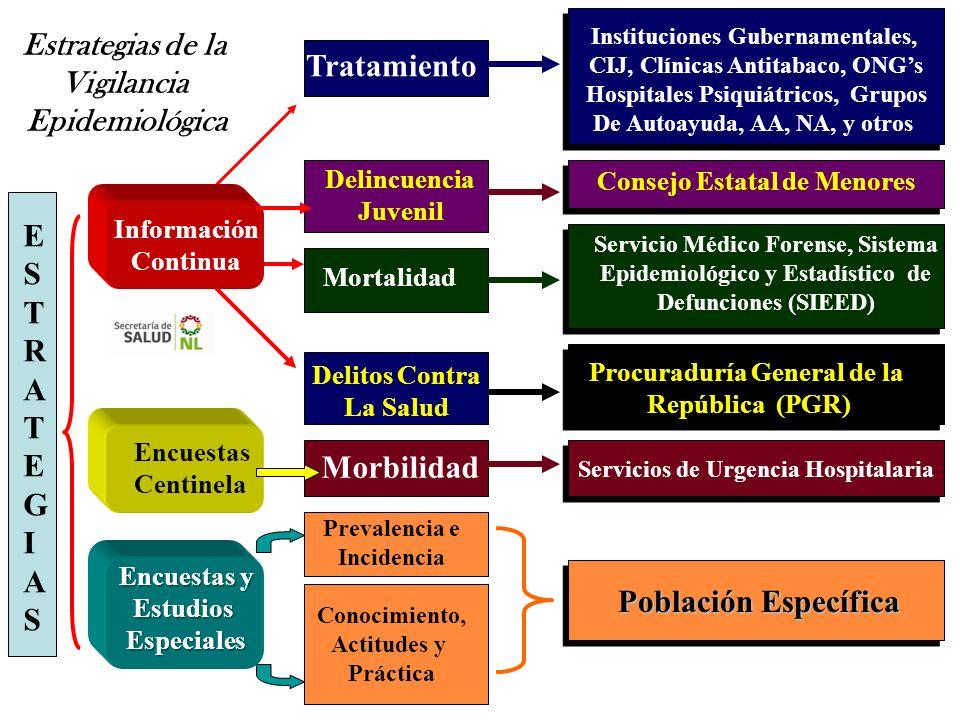 Consejo Estatal de Menores Instituciones Gubernamentales, CIJ, Clínicas Antitabaco, ONGs Hospitales Psiquiátricos, Grupos De Autoayuda, AA, NA, y otro