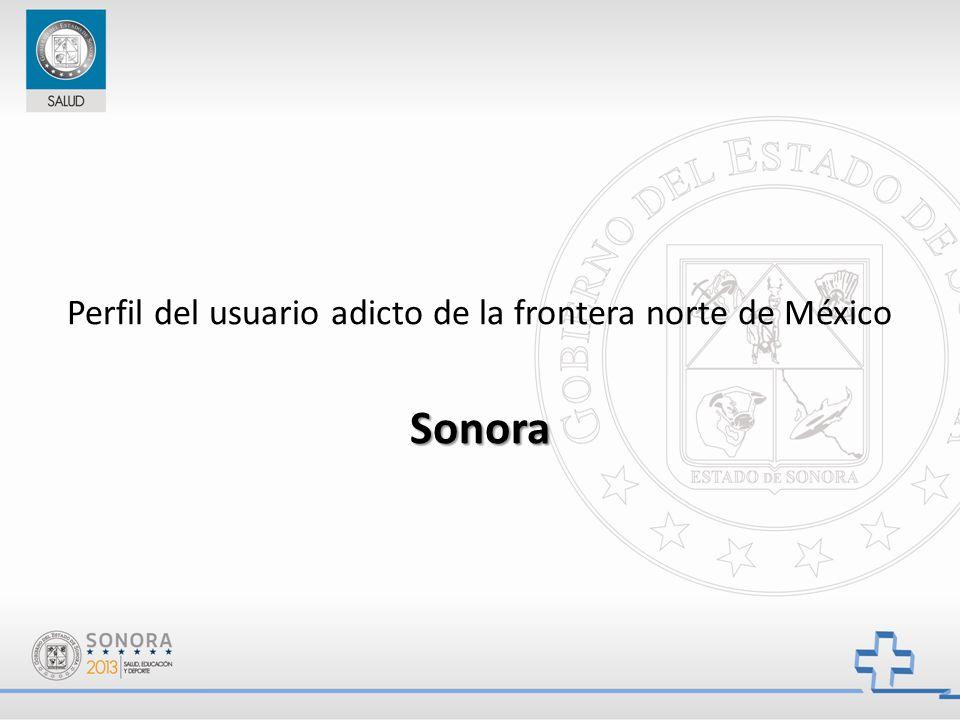 Perfil del usuario adicto de la frontera norte de MéxicoSonora