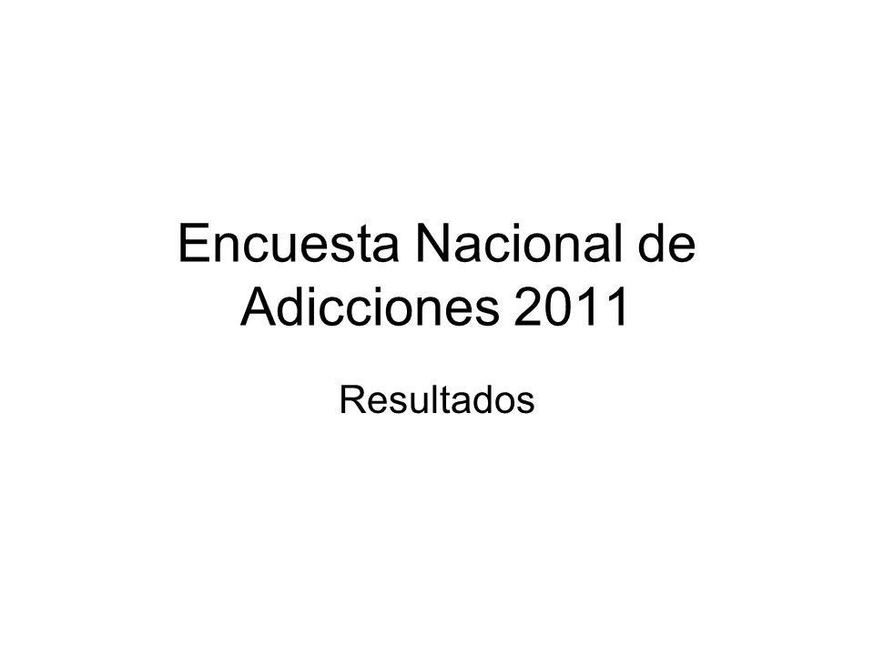 Encuesta Nacional de Adicciones 2011 DROGAS ILICITAS