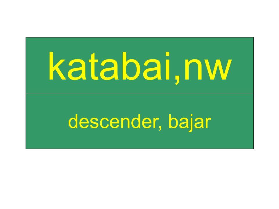 descender, bajar katabai,nw