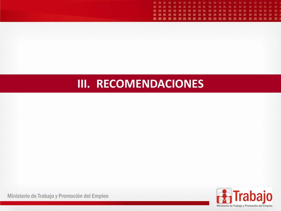 31 III. RECOMENDACIONES