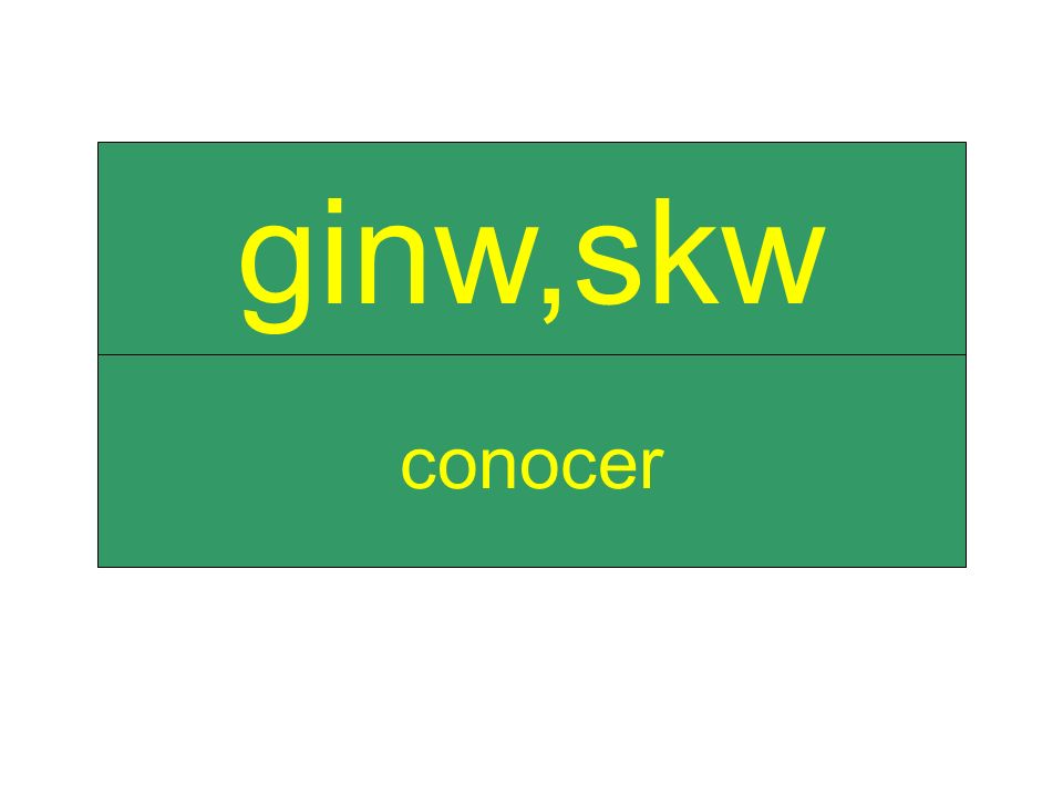 conocer ginw,skw