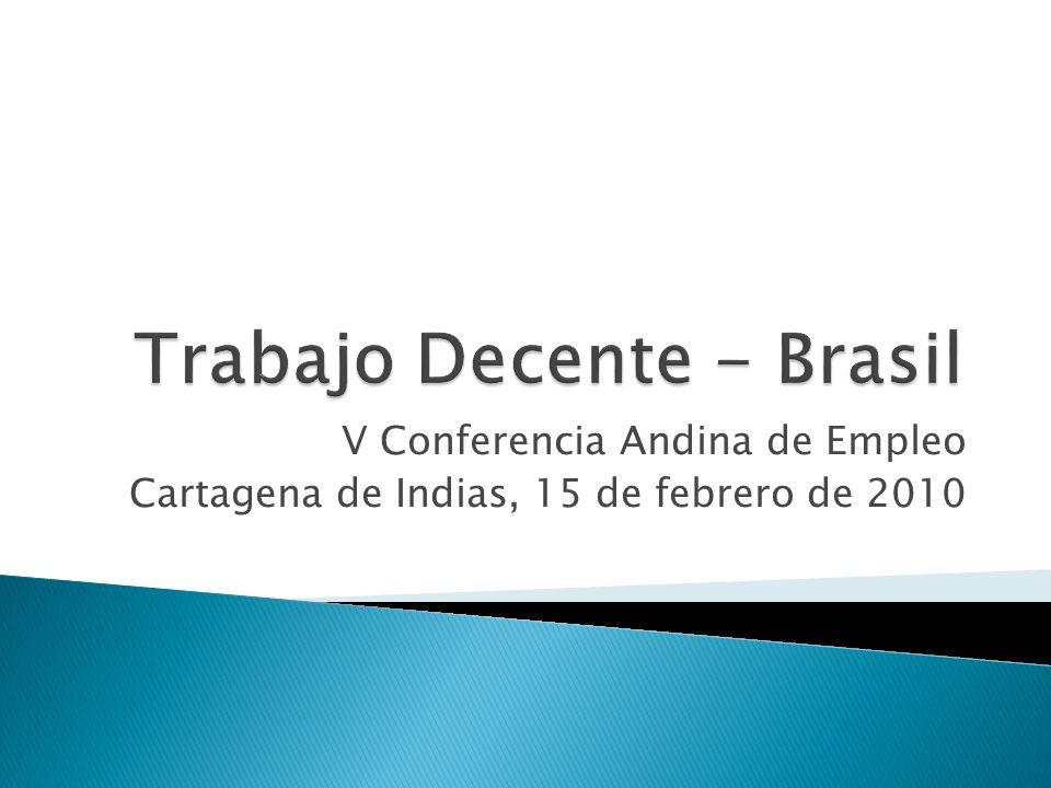 V Conferencia Andina de Empleo Cartagena de Indias, 15 de febrero de 2010