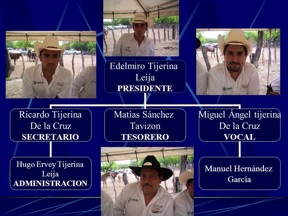 Edelmiro Tijerina Leija PRESIDENTE Ricardo Tijerina De la Cruz SECRETARIO Hugo Ervey Tijerina Leija ADMINISTRACION Matías Sánchez Tavizon TESORERO Mig