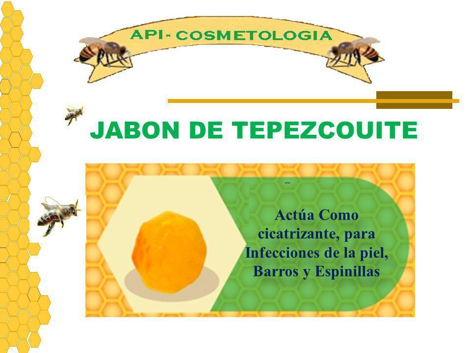 Actúa Como cicatrizante, para Infecciones de la piel, Barros y Espinillas JABON DE TEPEZCOUITE