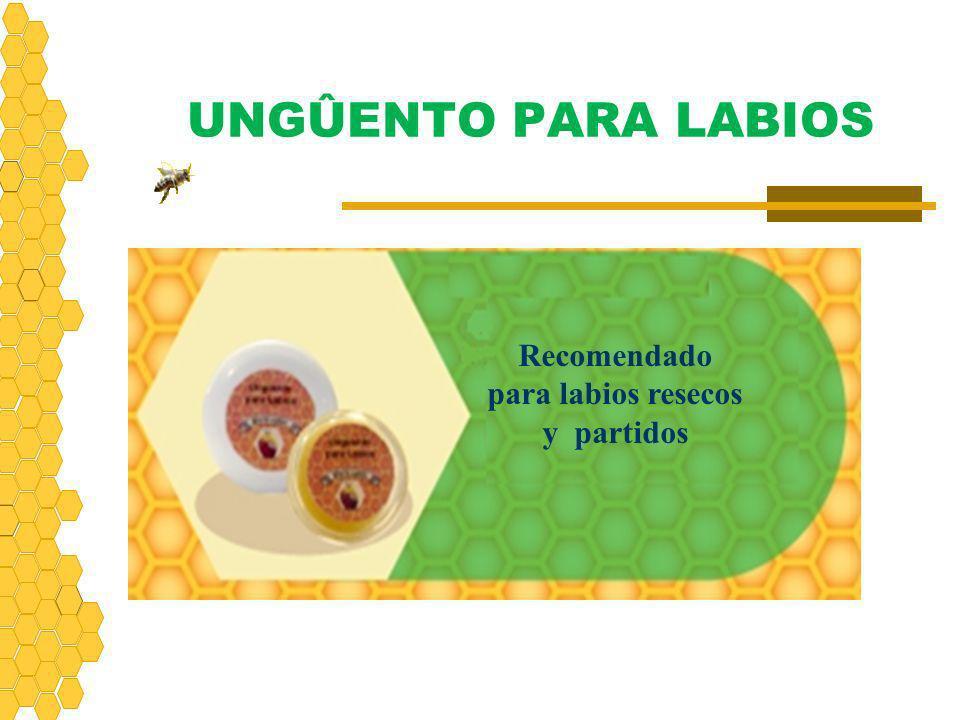 UNGÛENTO PARA LABIOS Recomendado para labios resecos y partidos