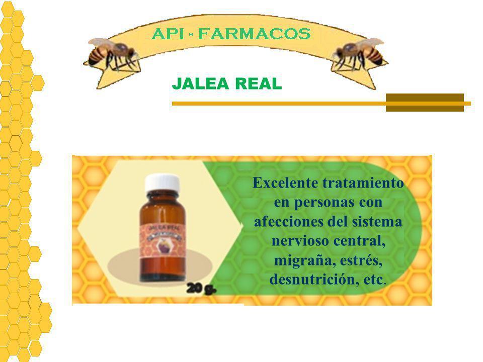 Excelente tratamiento en personas con afecciones del sistema nervioso central, migraña, estrés, desnutrición, etc. JALEA REAL