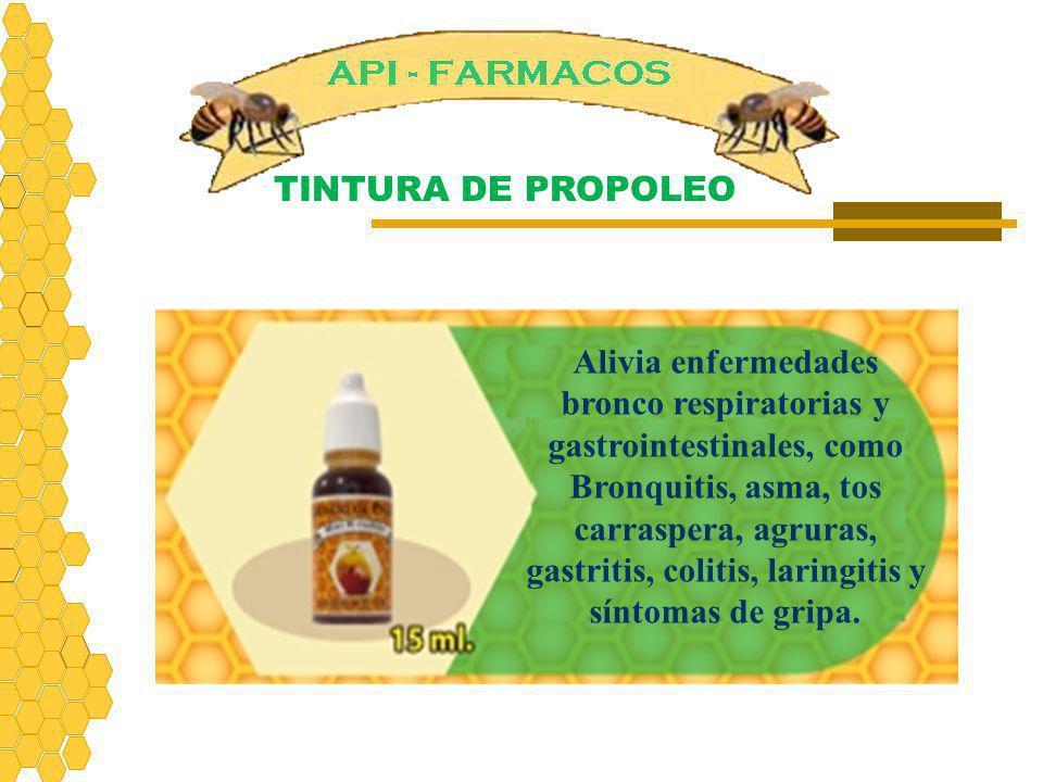 Alivia enfermedades bronco respiratorias y gastrointestinales, como Bronquitis, asma, tos carraspera, agruras, gastritis, colitis, laringitis y síntom