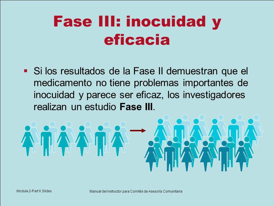 Module 2-Part II Slides Manual del instructor para Comités de Asesoría Comunitaria Fase III: inocuidad y eficacia Si los resultados de la Fase II demu