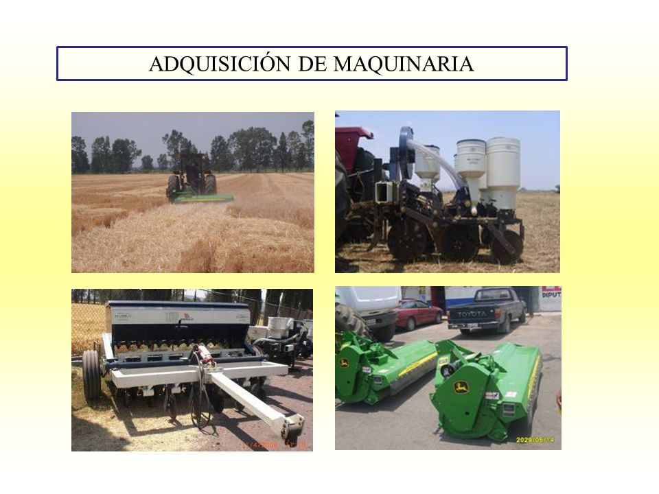 ADQUISICIÓN DE MAQUINARIA