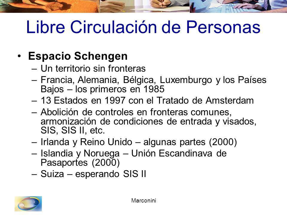 Marconini Libre Circulación de Personas Espacio Schengen –Un territorio sin fronteras –Francia, Alemania, Bélgica, Luxemburgo y los Países Bajos – los