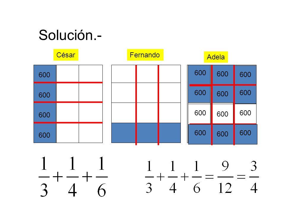 Solución.- FernandoCésar Adela 600