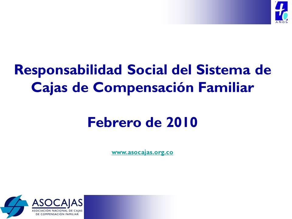 Responsabilidad Social del Sistema de Cajas de Compensación Familiar Febrero de 2010 www.asocajas.org.co