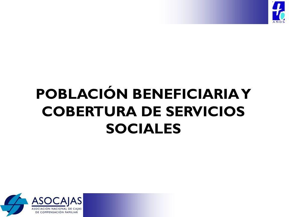 POBLACIÓN BENEFICIARIA Y COBERTURA DE SERVICIOS SOCIALES
