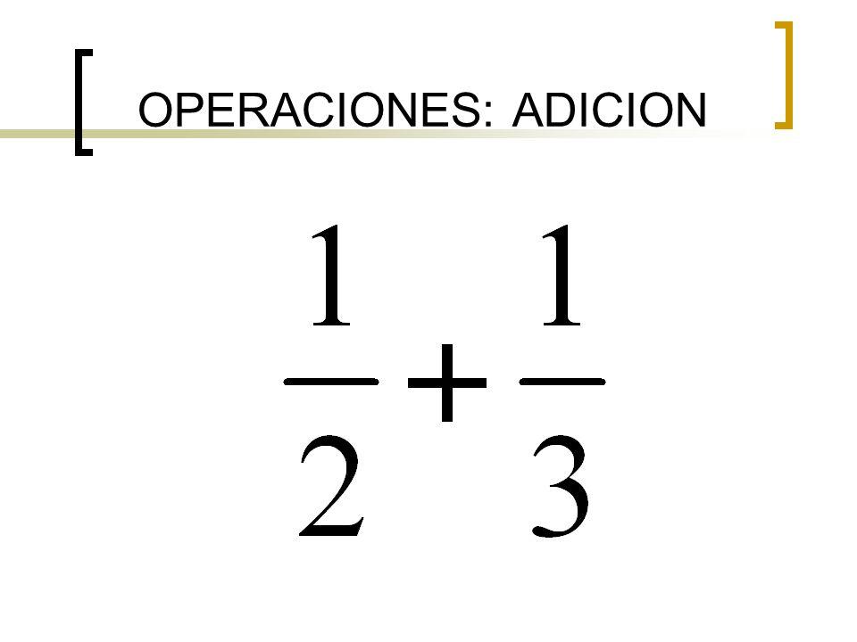 OPERACIONES: ADICION