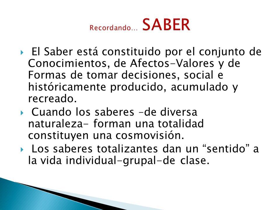 Las previsiones de aprendizaje y de enseñanza son realizadas por individuos que responden a grupos sociales y grupos de poder.