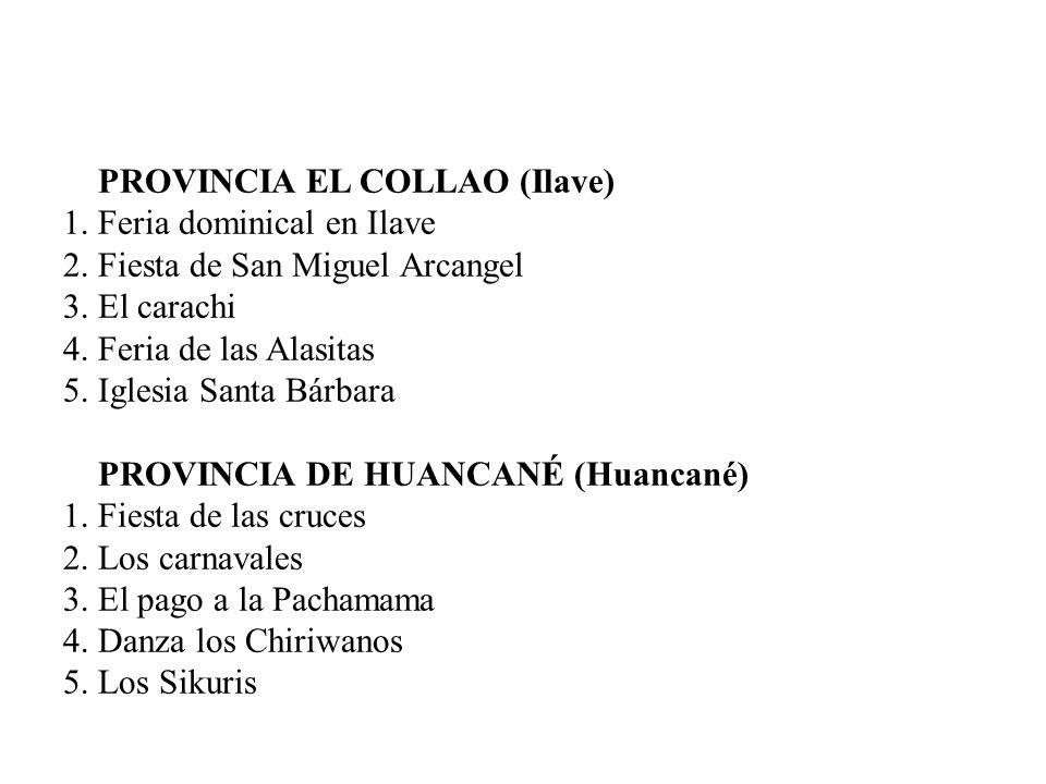 PROVINCIA EL COLLAO (Ilave) 1.Feria dominical en Ilave 2.