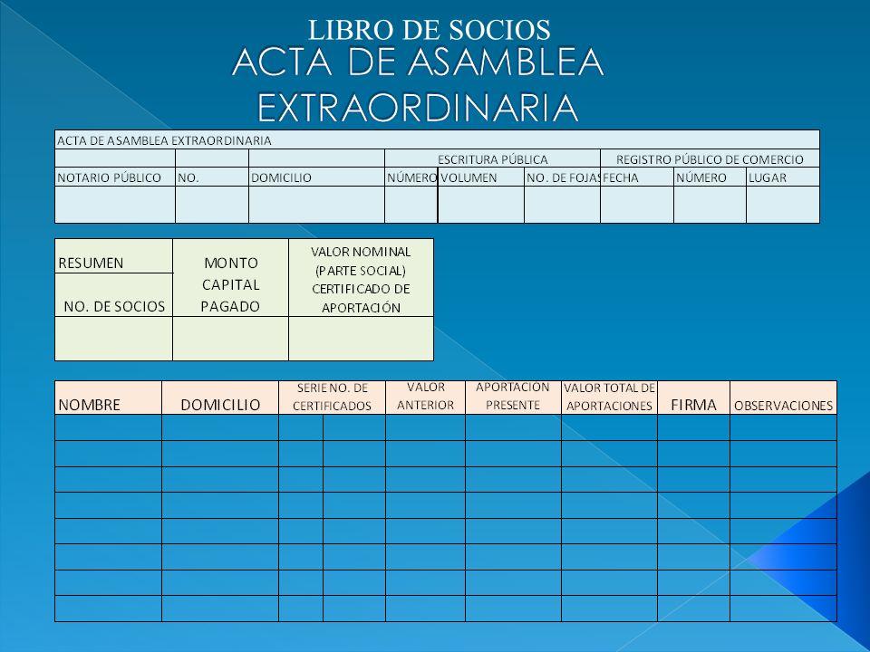 LIBRO DE SOCIOS