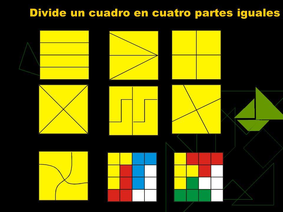 Divide un cuadro en cuatro partes iguales