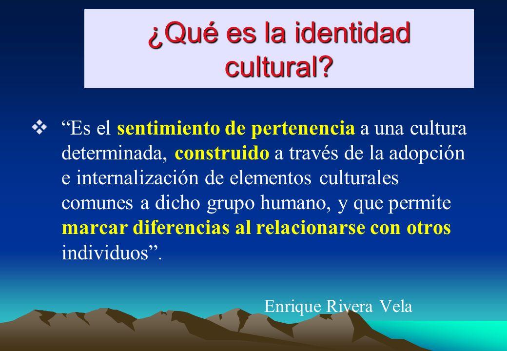 IDENTIDAD ETNICA ¿Quién soy étnicamente? RELIGIOSA ¿Quién soy según un sistema de creencias? CULTURAL ¿Quién soy culturalmente?