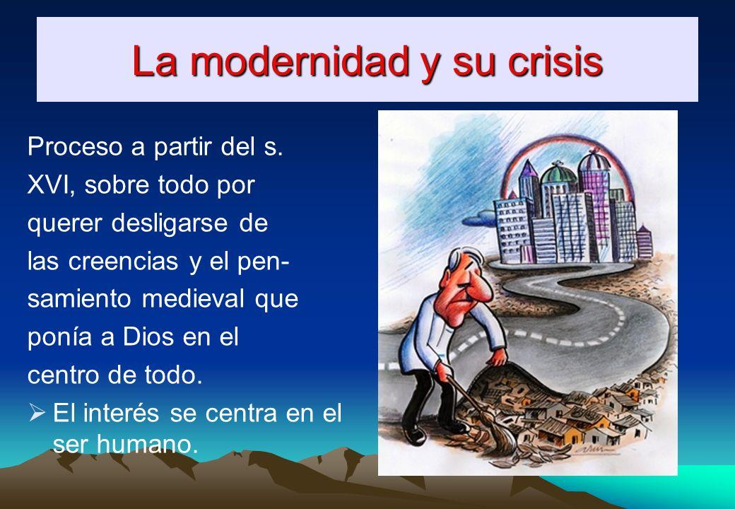 La modernidad y su crisis Proceso a partir del s.