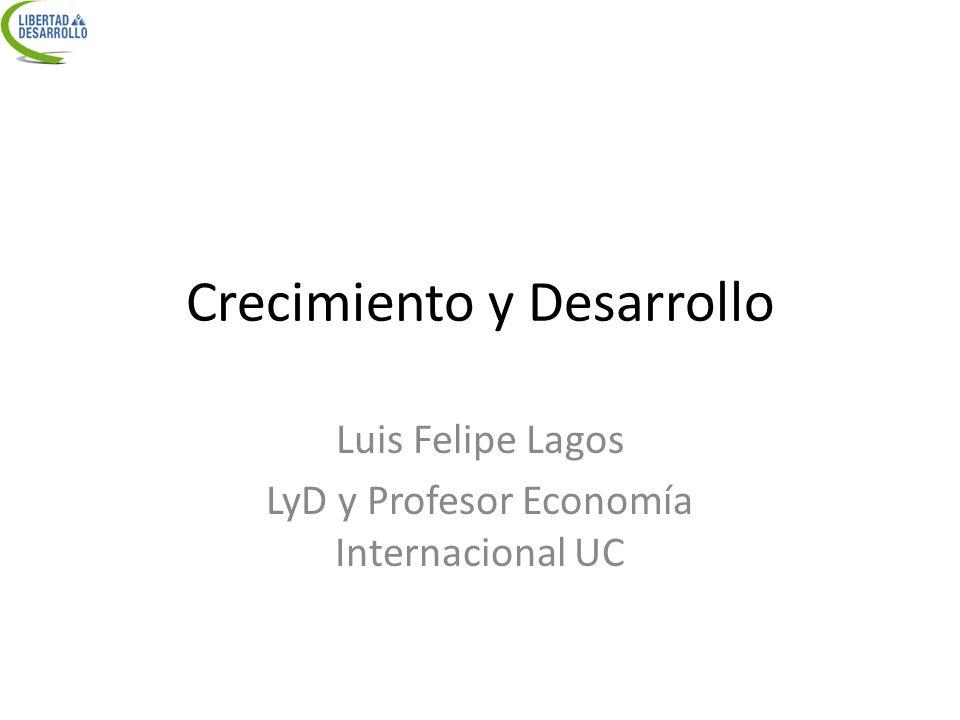 Crecimiento y Desarrollo Luis Felipe Lagos LyD y Profesor Economía Internacional UC