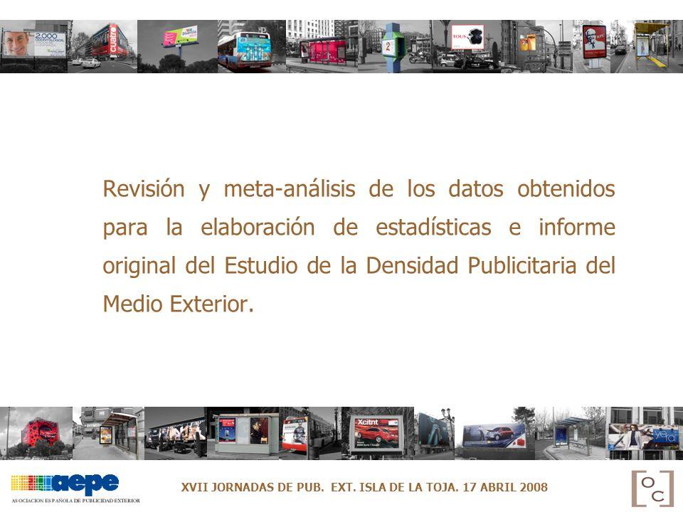 Revisión y meta-análisis de los datos obtenidos para la elaboración de estadísticas e informe original del Estudio de la Densidad Publicitaria del Med