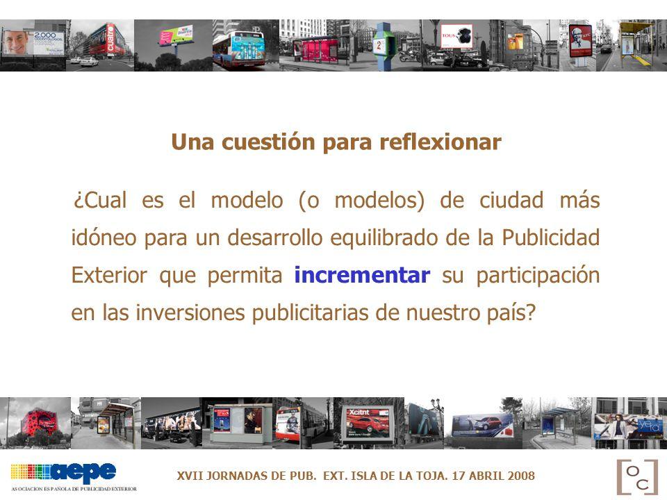 Una cuestión para reflexionar ¿Cual es el modelo (o modelos) de ciudad más idóneo para un desarrollo equilibrado de la Publicidad Exterior que permita