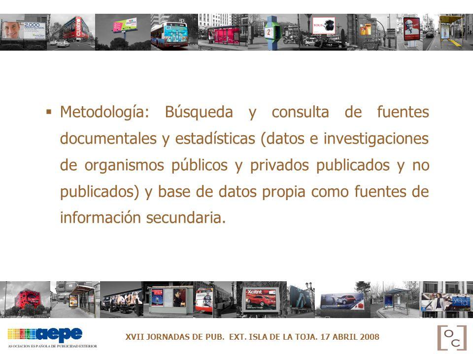 Metodología: Búsqueda y consulta de fuentes documentales y estadísticas (datos e investigaciones de organismos públicos y privados publicados y no pub