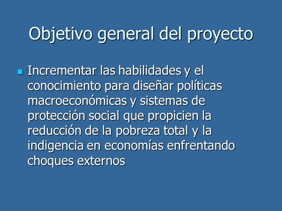 Objetivo general del proyecto Incrementar las habilidades y el conocimiento para diseñar políticas macroeconómicas y sistemas de protección social que