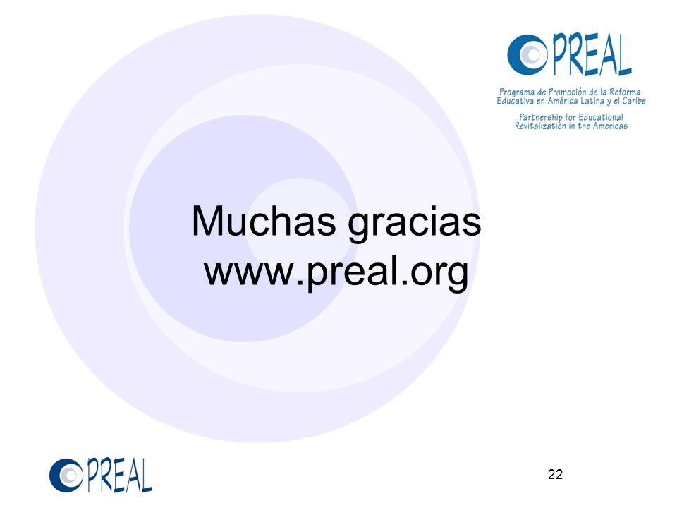 22 Muchas gracias www.preal.org