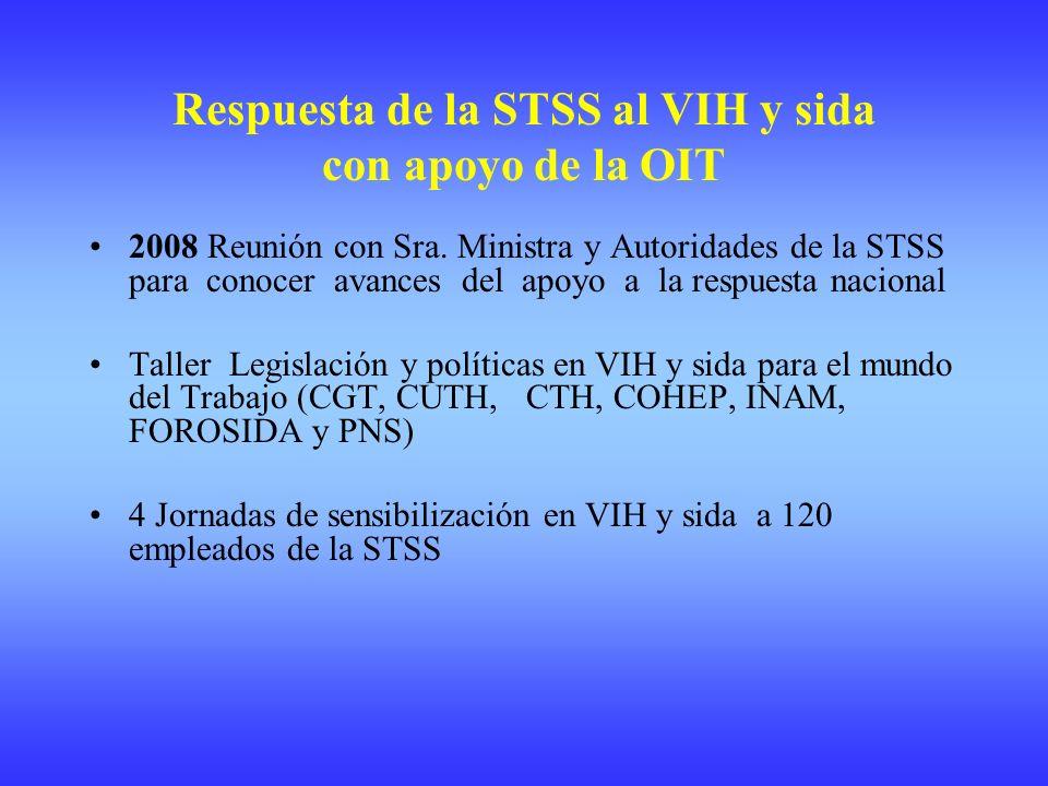 Respuesta de la STSS al VIH y sida con apoyo de la OIT 2008 Reunión con Sra.