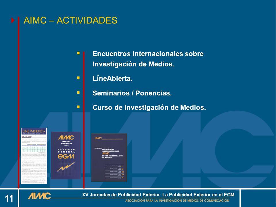 11 XV Jornadas de Publicidad Exterior.