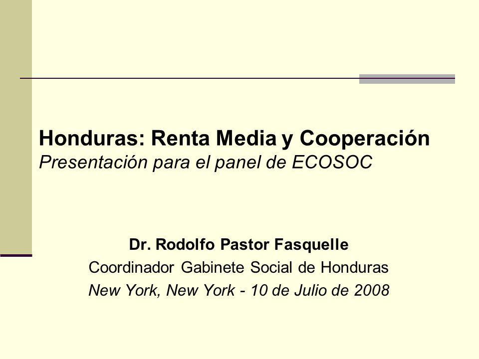 Honduras y la Cooperación Externa La Cooperación externa ha sido un socio estratégico para el desarrollo y a partir del Huracán Mitch (1998), un factor determinante para la reconstrucción y transformación nacional.