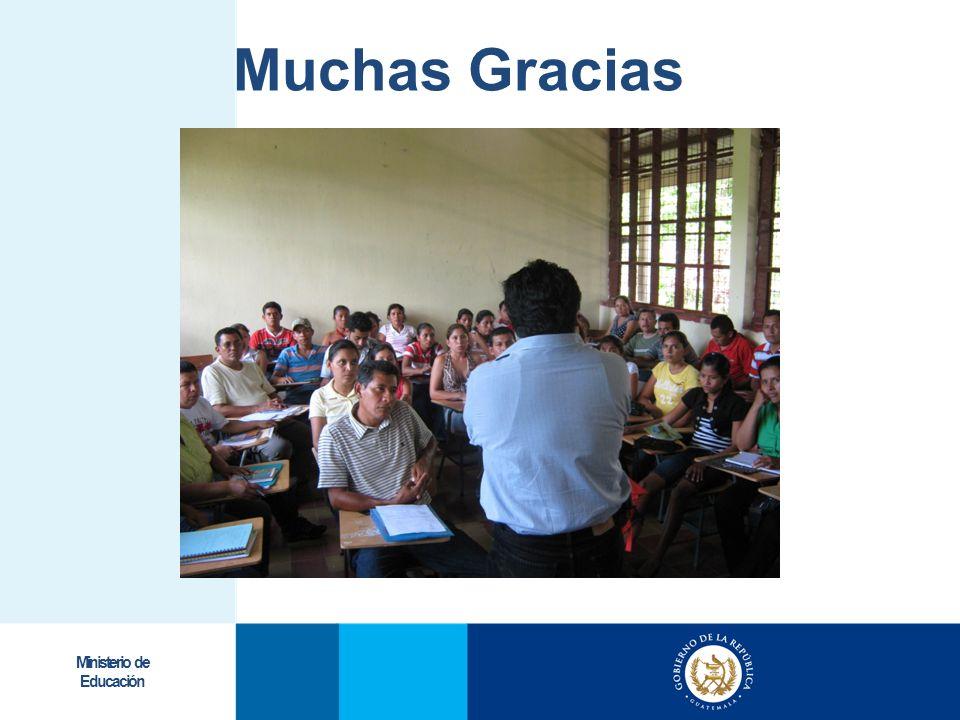 Ministerio de Educación Muchas Gracias