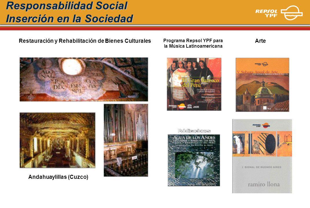 Responsabilidad Social Inserción en la Sociedad Programa Repsol YPF para la Música Latinoamericana Restauración y Rehabilitación de Bienes Culturales