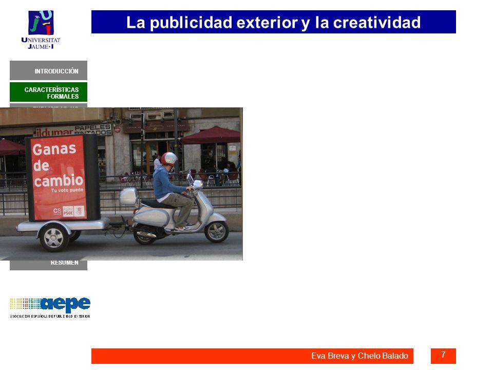 La publicidad exterior y la creatividad 8 INTRODUCCIÓN MUESTRA NEGOCIACIÓN DE MEDIOS CONCEPTO Y ADAPTACIONES EL ANUNCIO PERFECTO CARACTERÍSTICAS FORMALES PUBLICIDAD NO CONVENCIONAL REPRIMENDAS RESUMEN POSIBILIDADES CREATIVAS Eva Breva y Chelo Balado PUBLICIDAD NO CONVENCIONAL Publicidad de guerrilla, street marketing, ambient marketing: Nuevo movimiento donde la creatividad es indispensable.