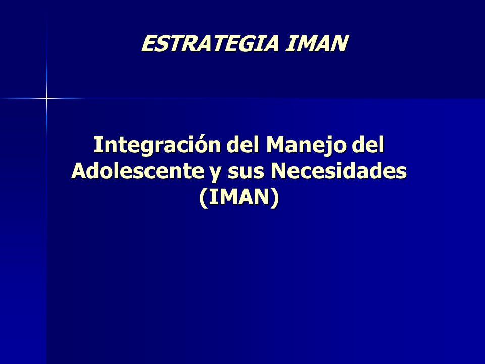 ESTRATEGIA IMAN Integración del Manejo del Adolescente y sus Necesidades (IMAN)
