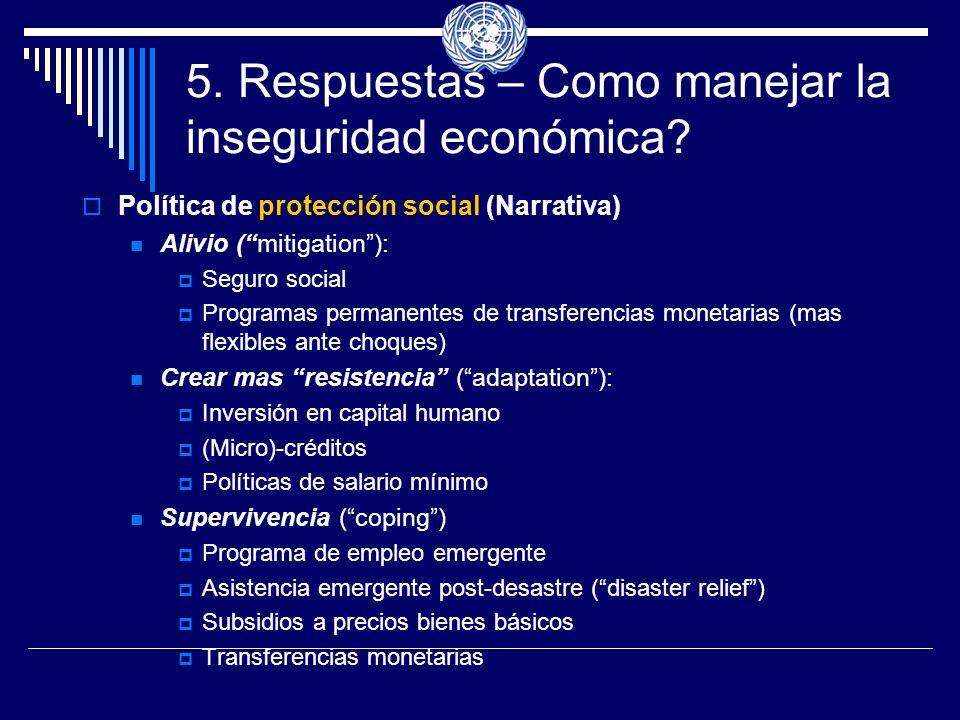 5.Respuestas – Como manejar la inseguridad económica.